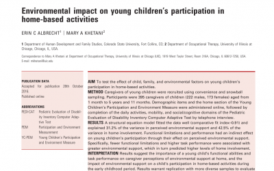 Invited Podcast Reports on Environmental Impact on Young Children's Participation