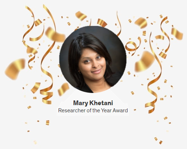 Mary Receives Researcher of the Year Award